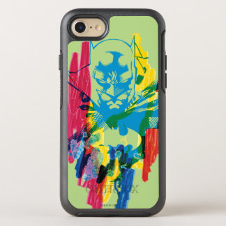 Coque OtterBox Symmetry iPhone 8/7 Collage au néon de marqueur de Batman