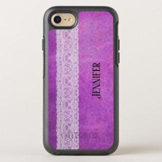 Coque OtterBox Symmetry iPhone 8/7 Conception florale faite sur commande de texture