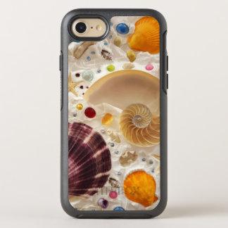 Coque OtterBox Symmetry iPhone 8/7 Coquillages de Tropicsl d'été de plage