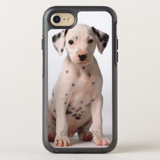 Coque OtterBox Symmetry iPhone 8/7 Deux petits chiots dalmatiens noirs et blancs