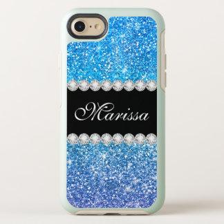 Coque OtterBox Symmetry iPhone 8/7 Étincelles pourpres bleues d'Ombre de parties