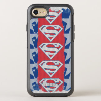 Coque OtterBox Symmetry iPhone 8/7 Étoiles et logo de Superman