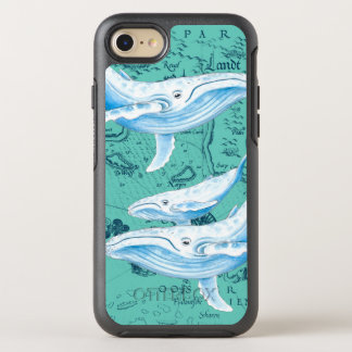 Coque OtterBox Symmetry iPhone 8/7 Famille Teal de baleines bleues
