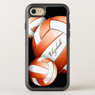 Coque OtterBox Symmetry iPhone 8/7 Femmes oranges et blanches de volleyballs