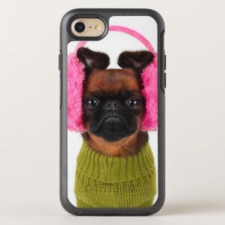 Coque OtterBox Symmetry iPhone 8/7 Griffon de Bruxelles avec les bouche-oreilles