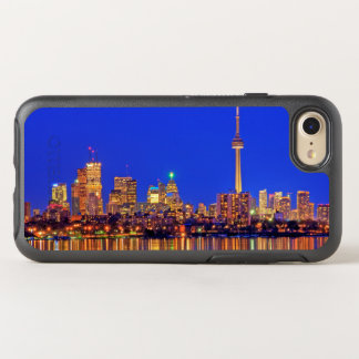 Coque OtterBox Symmetry iPhone 8/7 Horizon du centre de Toronto la nuit