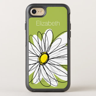 Coque OtterBox Symmetry iPhone 8/7 Illustration florale de marguerite à la mode -
