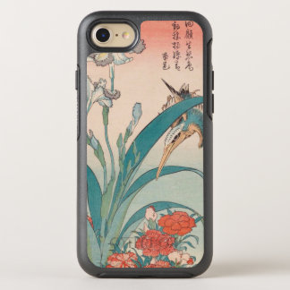 Coque OtterBox Symmetry iPhone 8/7 Iris et roses sauvages GalleryHD de martin-pêcheur