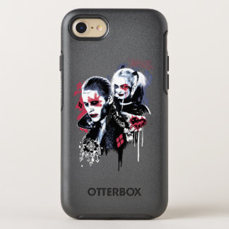 Coque OtterBox Symmetry iPhone 8/7 Joker du peloton | de suicide et graffiti peint