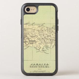Coque OtterBox Symmetry iPhone 8/7 La Jamaïque a lithographié la carte