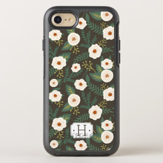 Coque OtterBox Symmetry iPhone 8/7 La magnolia fleurit monogramme