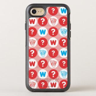 Coque OtterBox Symmetry iPhone 8/7 Là où est le motif de rouge de Waldo, blanc et