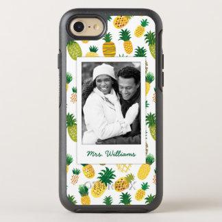 Coque OtterBox Symmetry iPhone 8/7 Le motif à la mode   d'ananas ajoutent votre photo