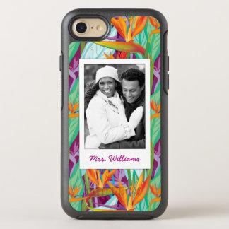 Coque OtterBox Symmetry iPhone 8/7 Le motif | de Strelitzia ajoutent votre photo et