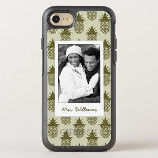 Coque OtterBox Symmetry iPhone 8/7 Le motif kaki   d'ananas ajoutent votre photo et