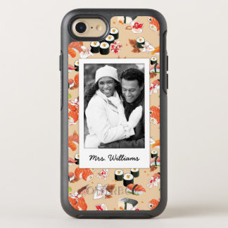 Coque OtterBox Symmetry iPhone 8/7 Le motif orange | de sushi ajoutent votre photo