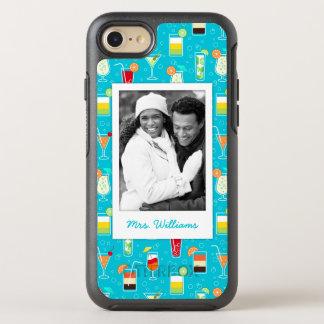 Coque OtterBox Symmetry iPhone 8/7 Le motif turquoise   de cocktail ajoutent votre