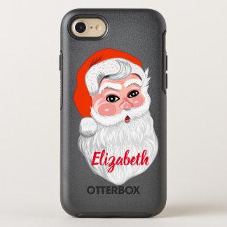 """Coque OtterBox Symmetry iPhone 8/7 Le """"père noël"""" mignon avec le nom"""