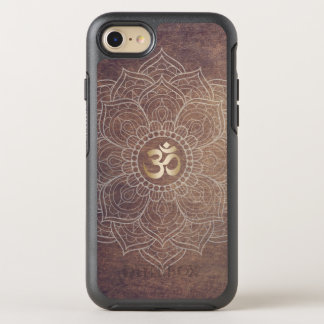 Coque OtterBox Symmetry iPhone 8/7 Le yoga vintage OM d'or de Namaste de mandala