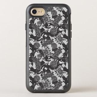 Coque OtterBox Symmetry iPhone 8/7 Légendes urbaines de Batman - motif BW de textile
