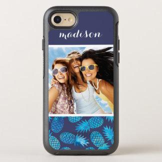 Coque OtterBox Symmetry iPhone 8/7 Les ananas bleus de colorant de cravate   ajoutent