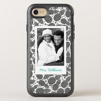 Coque OtterBox Symmetry iPhone 8/7 Les ananas monochromes   ajoutent votre photo et