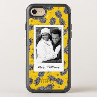 Coque OtterBox Symmetry iPhone 8/7 Les ananas sur l'or   ajoutent votre photo et