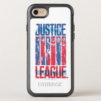 Coque OtterBox Symmetry iPhone 8/7 Ligue de justice art bleu et rouge de | de groupe