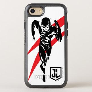 Coque OtterBox Symmetry iPhone 8/7 Ligue de justice | l'éclair courant l'art de bruit