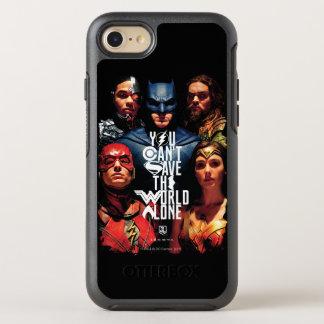 Coque OtterBox Symmetry iPhone 8/7 Ligue de justice | vous ne pouvez pas sauver seul