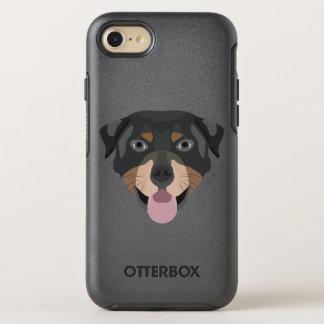 Coque OtterBox Symmetry iPhone 8/7 L'illustration poursuit le rottweiler de visage