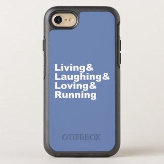 Coque OtterBox Symmetry iPhone 8/7 Living&Laughing&Loving&RUNNING (blanc)