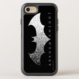 Coque OtterBox Symmetry iPhone 8/7 Logo de pixel de chevalier de Batman Arkham