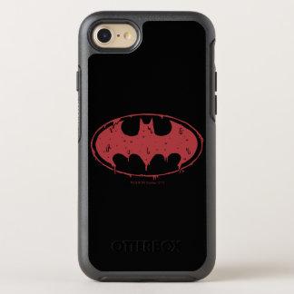 Coque OtterBox Symmetry iPhone 8/7 Logo de suintement de batte rouge de Batman |