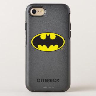Coque OtterBox Symmetry iPhone 8/7 Logo d'ovale de batte du symbole | de Batman