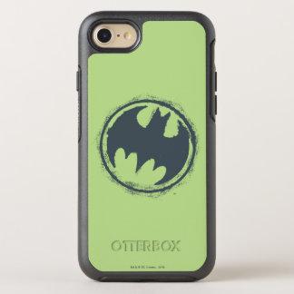 Coque OtterBox Symmetry iPhone 8/7 Logo grunge gris 2 du symbole | de Batman