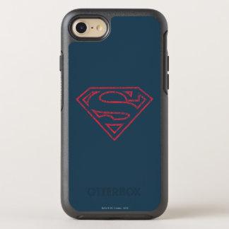 Coque OtterBox Symmetry iPhone 8/7 Logo rouge d'ensemble du S-Bouclier | de Superman