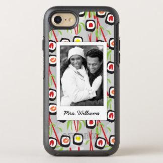 Coque OtterBox Symmetry iPhone 8/7 Monogramme du motif | de conception de sushi