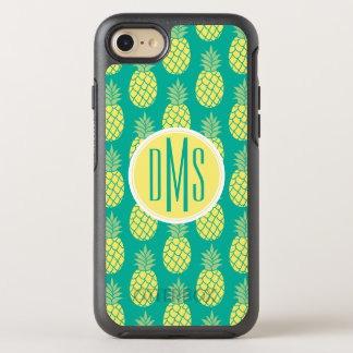 Coque OtterBox Symmetry iPhone 8/7 Monogramme en pastel des ananas |