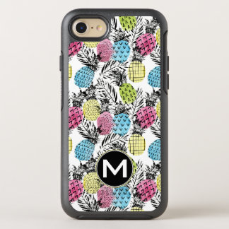 Coque OtterBox Symmetry iPhone 8/7 Monogramme grunge des paumes   d'ananas