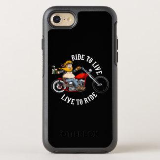 Coque OtterBox Symmetry iPhone 8/7 Motard biker moto ride to live