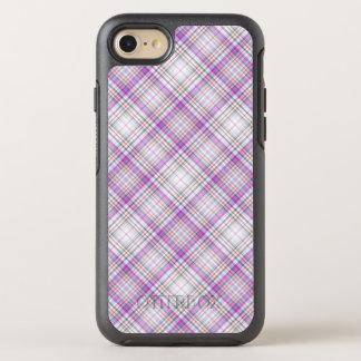 Coque OtterBox Symmetry iPhone 8/7 Motif checkered pourpre élégant