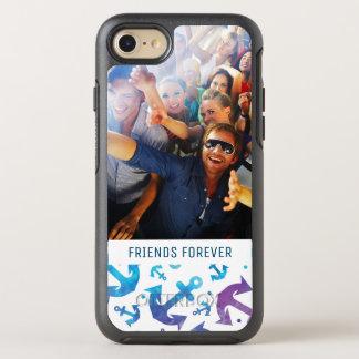 Coque OtterBox Symmetry iPhone 8/7 Motif | d'ancre de colorant de cravate votre photo