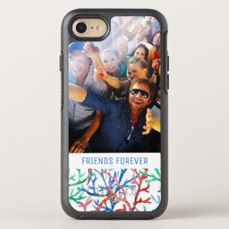 Coque OtterBox Symmetry iPhone 8/7 Motif de corail | d'aquarelle votre photo et texte