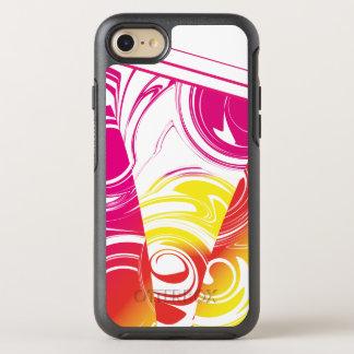 Coque OtterBox Symmetry iPhone 8/7 Motif de marbre jaune rouge-rose chaud d'Ombre