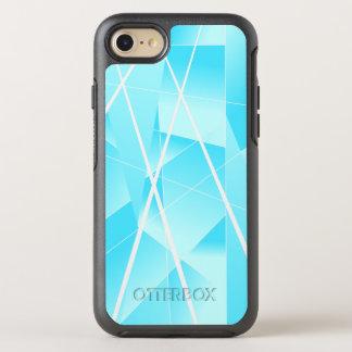 Coque OtterBox Symmetry iPhone 8/7 Motif géométrique frais dans le bleu de ciel