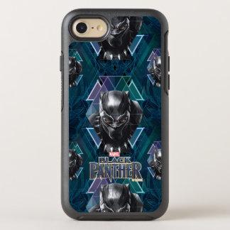 Coque OtterBox Symmetry iPhone 8/7 Motif géométrique noir de caractère de la panthère