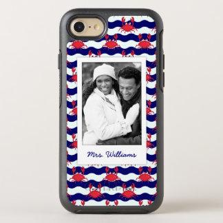 Coque OtterBox Symmetry iPhone 8/7 Motif heureux | de crabes votre photo et nom