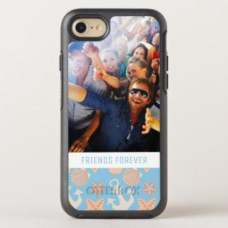 Coque OtterBox Symmetry iPhone 8/7 Motif nautique en pastel | votre photo et texte
