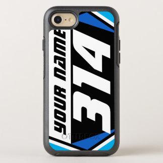 Coque OtterBox Symmetry iPhone 8/7 Nombre de emballage de MX de vélo de saleté - bleu